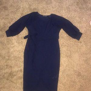 Boohoo balloon sleeve maternity dress